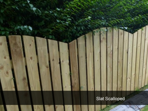 Slat Scalloped Fencing