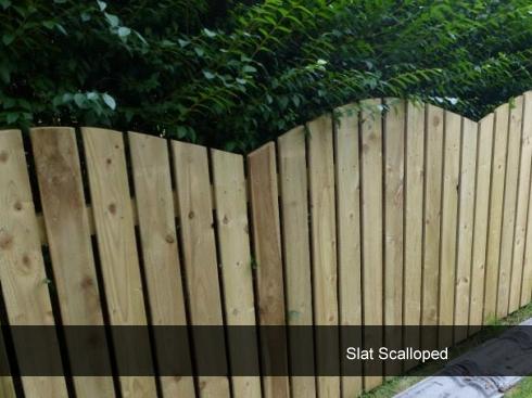 Slat Scalloped Fencing