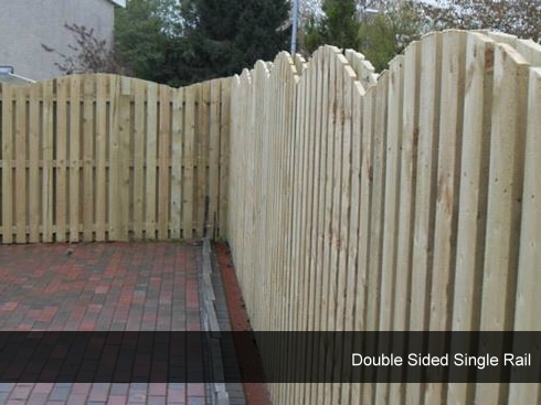 Double Sided Single Rail Fencing