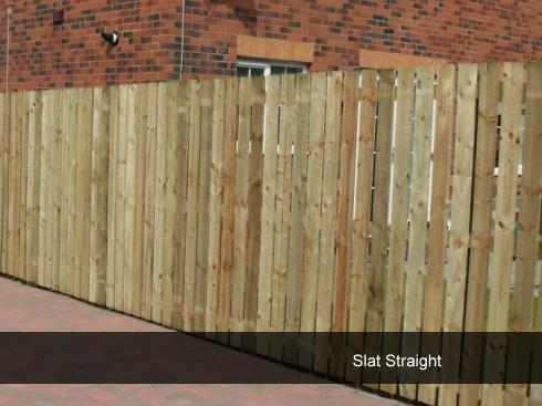 garden fencing Glasgow slat